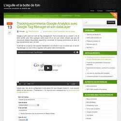 Tracking ecommerce Google Analytics avec Google Tag Manager et son dataLayer « Blog web analytics – L'aiguille et la botte de foin
