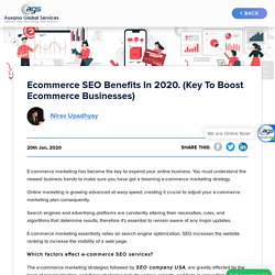 Ecommerce SEO Benefits in 2020. (Key To Boost Ecommerce Businesses)