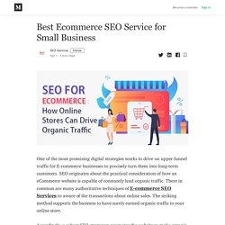 Best Ecommerce SEO Service for Small Business - SEO Services - Medium