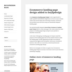 Get eCommerce landing page design templates for online store