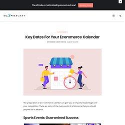 Key Dates For Your Ecommerce Calendar - Ecom Galaxy