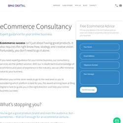 eCommerce Consultancy By Bing Digital