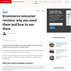 Ecommerce consumer reviews: why you need them and how to use them
