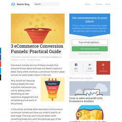 3 eCommerce Conversion Funnels: Practical Guide