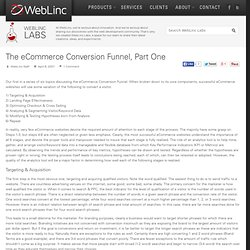 The eCommerce Conversion Funnel, Part One