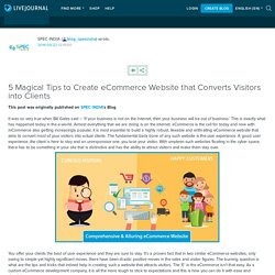 5 Magical Tips to Create eCommerce Website that Converts Visitors into Clients: blog_specindia