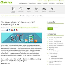 The Golden Rules of eCommerce SEO Copywriting in 2018