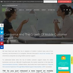 eCommerce and the Growth of Mobile Customer Support