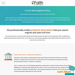 ECommerce Product Description Writing Services Company