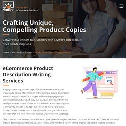 eCommerce Product Description Writing Services