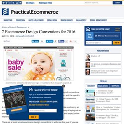 7 Ecommerce Design Conventions for 2016