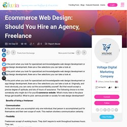 Ecommerce Web Design: Should You Hire an Agency, Freelance