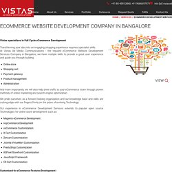 eCommerce Website Development Company in Bangalore – Vistas AD Media