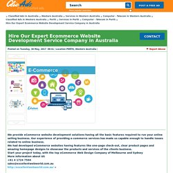 Hire Our Expert Ecommerce Website Development Service Company in Australia