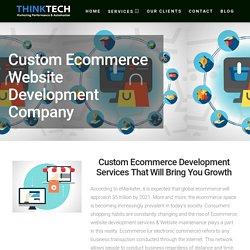 Custom Ecommerce Website Development Services Company Calgary & Eddmonton