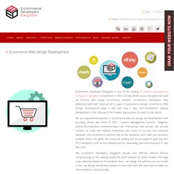 Ecommerce Web Design, Development Company in India