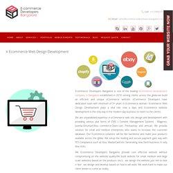 Ecommerce Web Design, Development Company in India