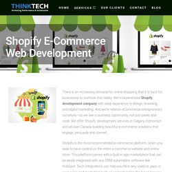 Shopify Ecommerce Web Development Company Calgary & Edmonton