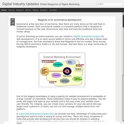 Digital Industry Updates: Magento is for ecommerce development