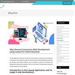 Why Choose Ecommerce Web Development in Laravel