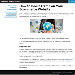 How to Boost Traffic on Your Ecommerce Website – Web Development Services