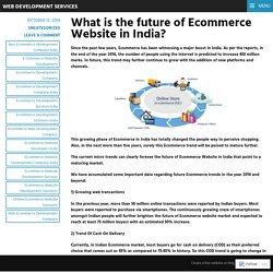 What is the future of Ecommerce Website in India? – Web Development Services