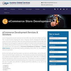 eCommerce Store & Website Development Company in Canada @ Auxano Global Services