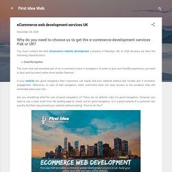 eCommerce web development services UK