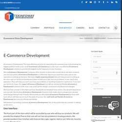 custom eCommerce development services at best prices