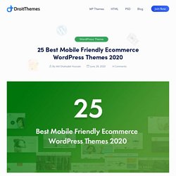 25 Best Mobile Friendly Ecommerce WordPress Themes 2020 - DroitThemes