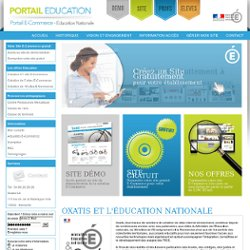 Portail Ecommerce Oxatis - Education nationale