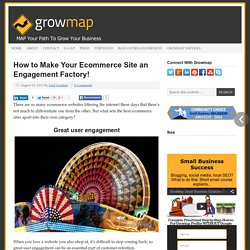 How to Make Your Ecommerce Site an Engagement Factory!