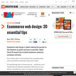 Ecommerce web design: 20 essential tips