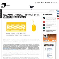 Rule #33 of eCommerce - an update on the ever-evolving online scene - Cueblog
