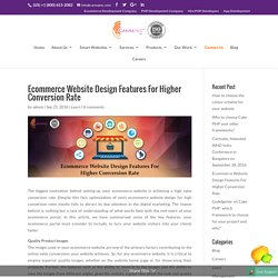 Ecommerce Website Design Features For Higher Conversion Rate