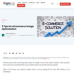 5 Tips for eCommerce Image Optimization