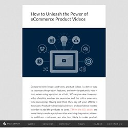 How to Unleash the Power of eCommerce Product Videos