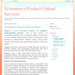 An Introduction to Magento Ecommerce Platform