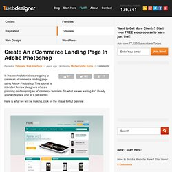 Create An eCommerce Landing Page In Adobe Photoshop