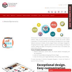 Ecommerce Website Maintenance services
