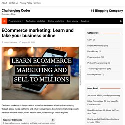 ECommerce marketing: Learn and take your business online -