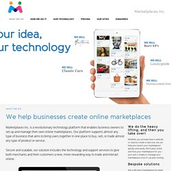 Ecommerce Software, Creating cloud based marketplaces & stores by Marketplaces Inc.