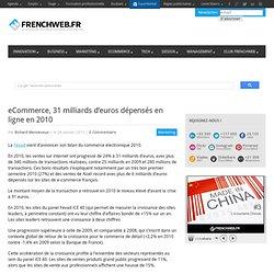 eCommerce, 31 milliards d'euros dépensés en ligne en 2010
