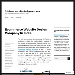 Ecommerce Website Design Company In India – Offshore website design services