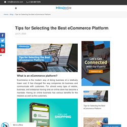 How to Select Best eCommerce Platform