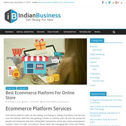Best Ecommerce Platform For Online Store - Indian Business
