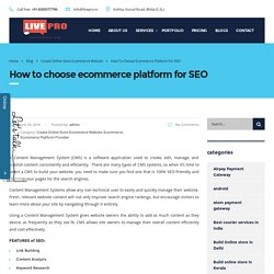 How to choose ecommerce platform for SEO