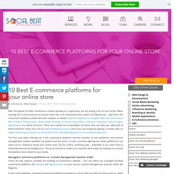 Top 10 & Best Ecommerce platforms Comparison, India 2016