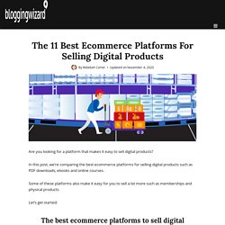 The 11 Best Ecommerce Platforms For Digital Products (2020)
