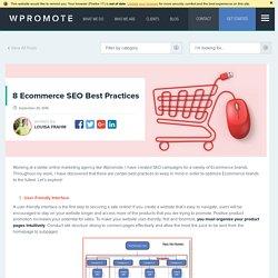 8 Ecommerce SEO Best Practices